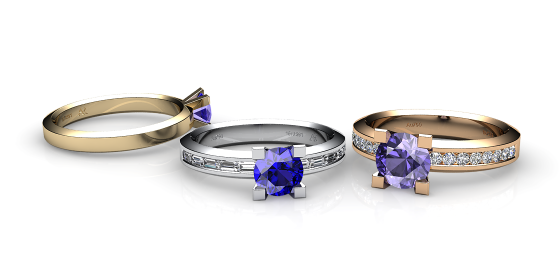 Belgravia. Bague en or 18 carat et tanzanite