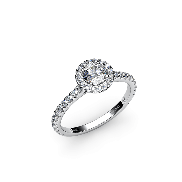 Tendresse. Bague diamant entourage diamants
