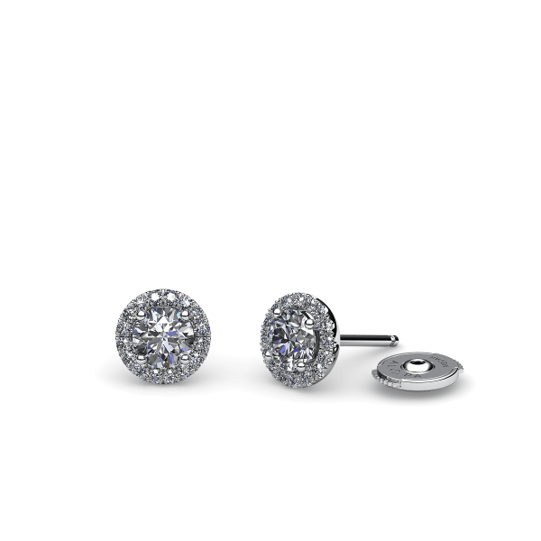 Tendresse. Boucles d'oreilles diamant