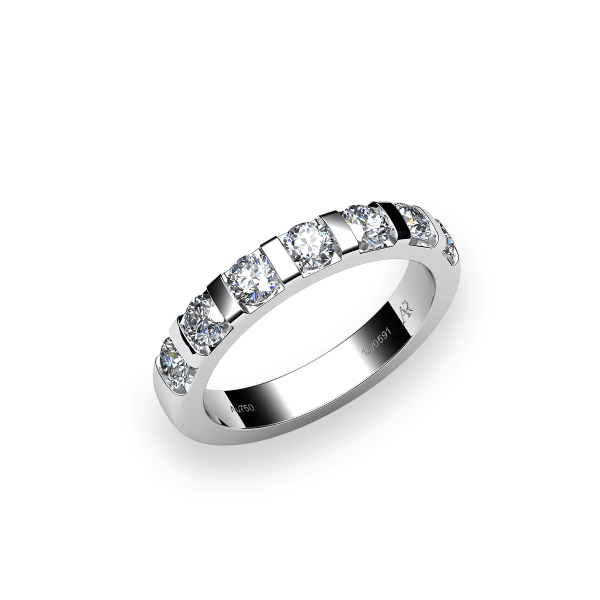Zayane. Alliance en or 18 carat et diamant